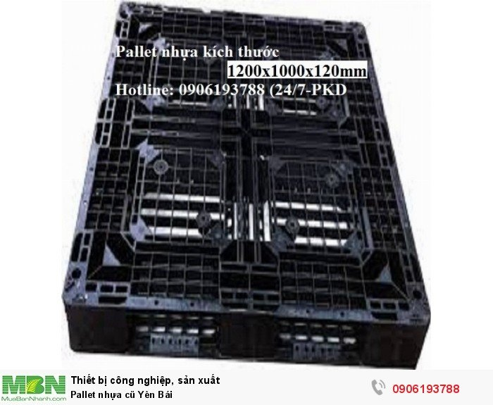 Pallet nhựa cũ Yên Bái, giao hàng toàn quốc - Liên hệ: 0906193788 (24/24 - Phòng Kinh Doanh)4