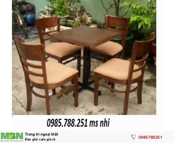 Bàn ghế cafe giá rẽ