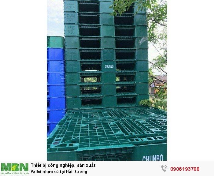 Pallet nhựa cũ tại Hải Dương, cam kết số lượng ổn định lâu dài - Liên hệ: 0906193788 (24/24 - Phòng Kinh Doanh)