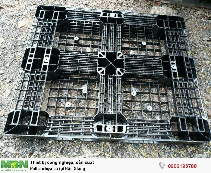 Pallet nhựa cũ tại Bắc Giang, giao hàng toàn quốc - Liên hệ: 0906193788 (24/24 - Phòng Kinh Doanh)