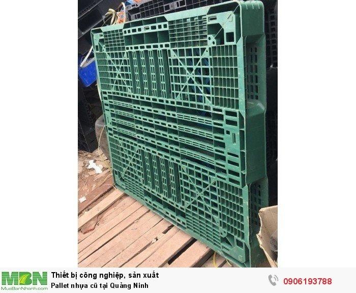 Pallet nhựa cũ tại Quảng Ninh, giao hàng toàn quốc - Liên hệ: 0906193788 (24/24 - Phòng Kinh Doanh)