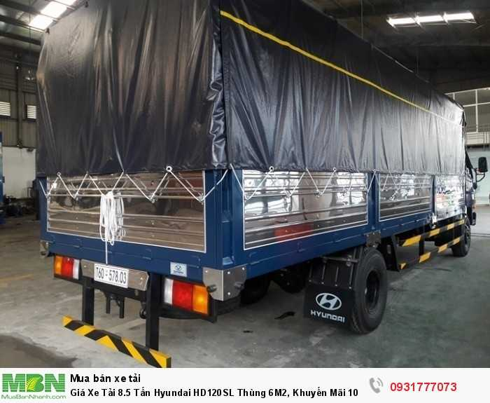 Xe Tải 8.5 tấn Hyundai HD120SL - thùng xe dài đến 6m2 giúp chuyên chở hàng hoá nhiều hơn