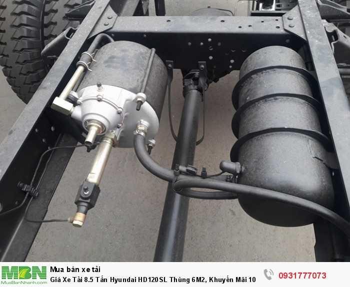 Xe Tải 8.5 tấn Hyundai HD120SL - trang bị thêm hệ thống thắng hơi giúp an toàn hơn cho tài xế