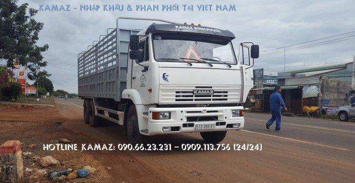 Tải thùng 15 tấn Kamaz / Kamaz thùng 7m8 3 chân