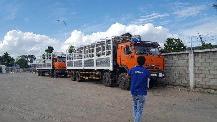 Kamaz 6540 thùng mui bạt 2016 | Kamaz thùng 4 giò nhập khẩu thùng 9m