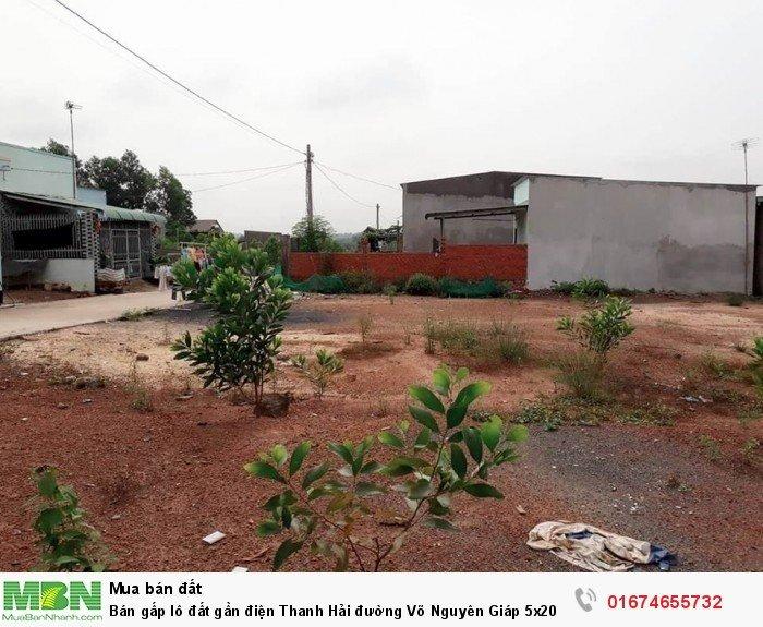 Bán gấp lô đất gần điện Thanh Hải đường Võ Nguyên Giáp 5x20