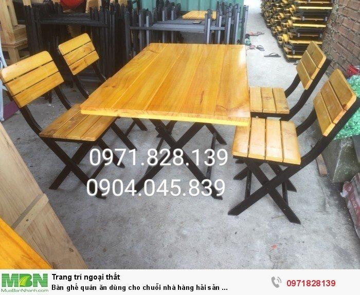 Bàn ghế quán ăn dùng cho chuỗi nhà hàng hải sản ...