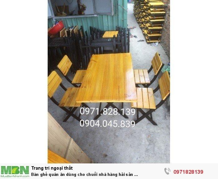 Bàn ghế quán ăn dùng cho chuỗi nhà hàng hải sản ...4