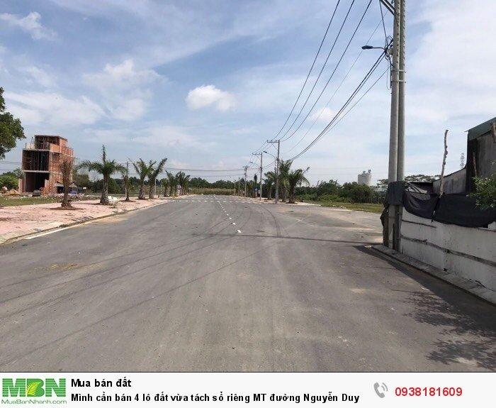 Mình cần bán 4 lô đất vừa tách sổ riêng MT đường Nguyễn Duy Trinh quận 2, thổ cư 100%