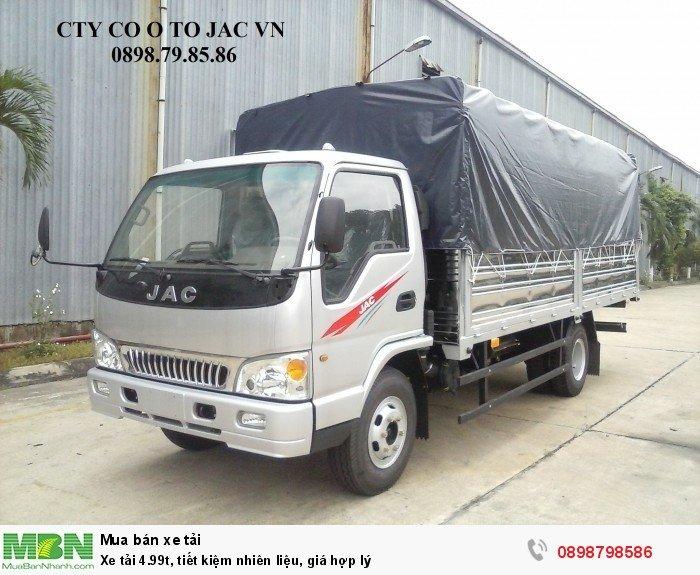 Xe tải 4.99t, tiết kiệm nhiên liệu, giá hợp lý
