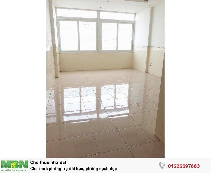 Cho thuê phòng trọ dài hạn, phòng sạch đẹp