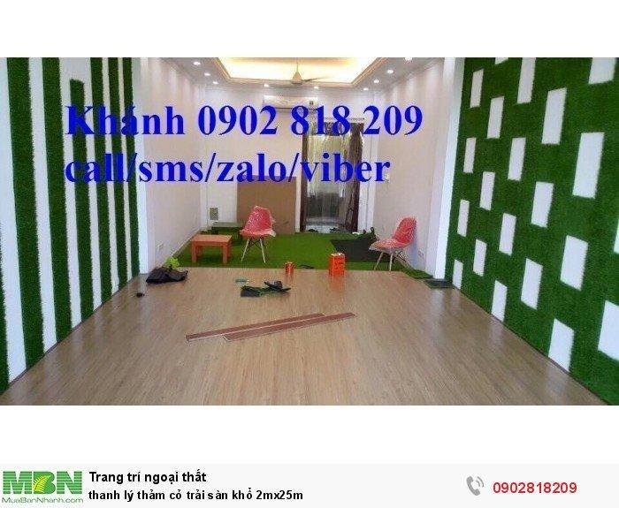 Thanh lý thảm cỏ trải sàn khổ 2mx25m0