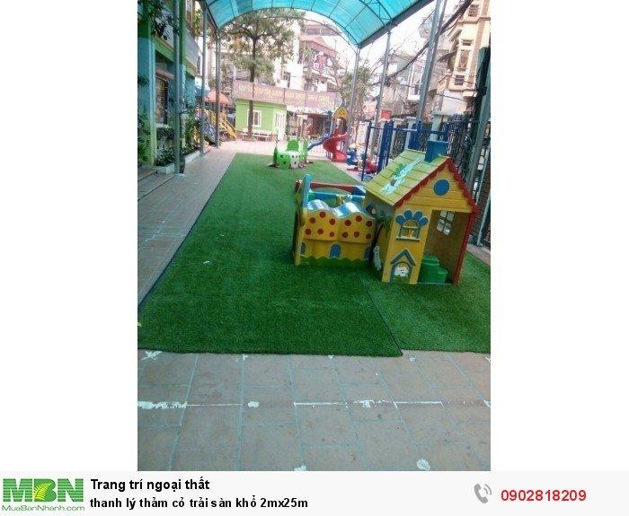 Thanh lý thảm cỏ trải sàn khổ 2mx25m1