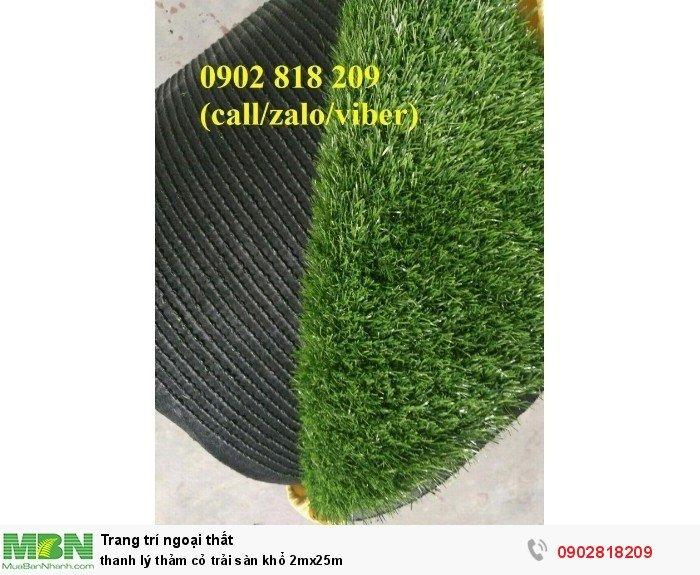 Thanh lý thảm cỏ trải sàn khổ 2mx25m2