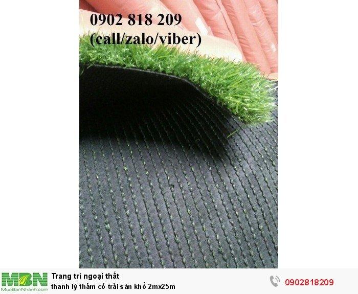 Thanh lý thảm cỏ trải sàn khổ 2mx25m3