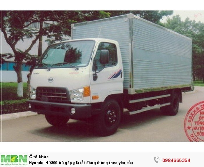 Hyundai HD800 trả góp giá tốt đóng thùng theo yêu cầu 7