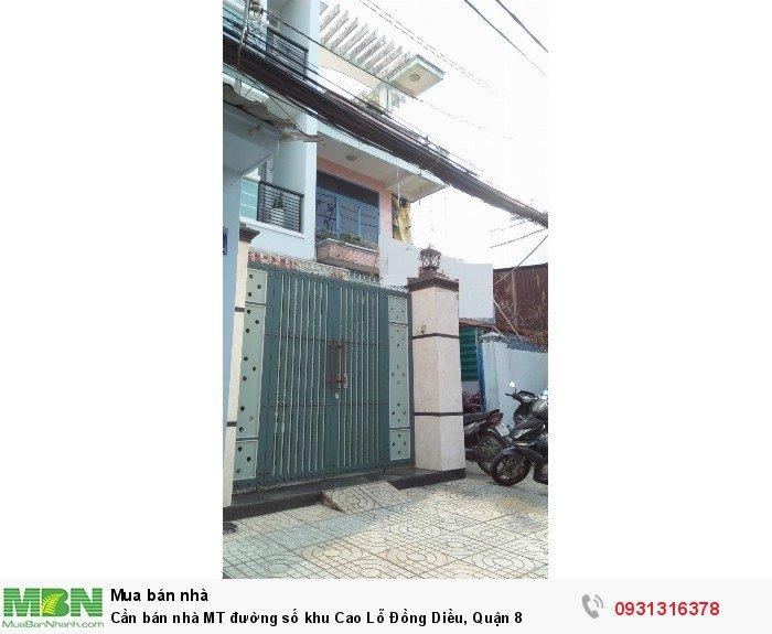 Cần bán nhà MT đường số khu Cao Lỗ Đồng Diều, Quận 8