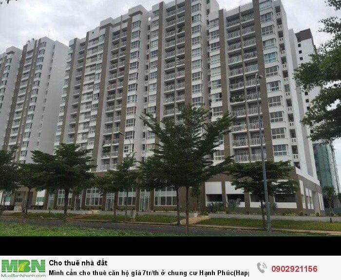 Mình cần cho thuê căn hộ giá 7tr/th ở chung cư Hạnh Phúc(Happy City)