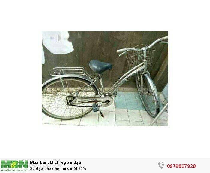 Xe đạp cào cào inox mới 95%