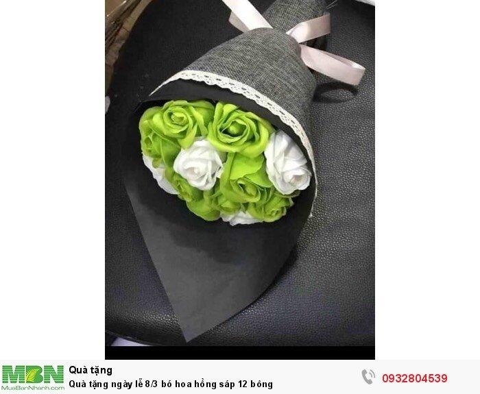 Quà tặng ngày lễ 8/3 bó hoa hồng sáp 12 bông2