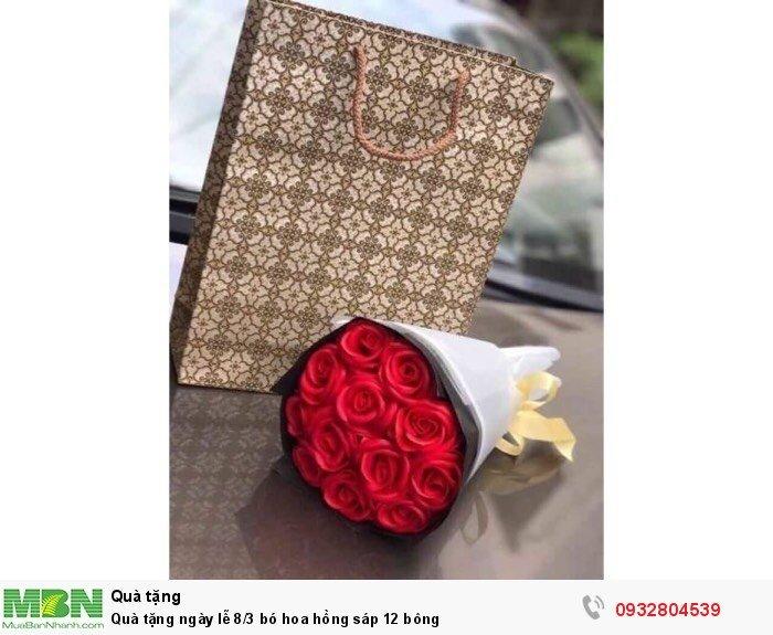 Quà tặng ngày lễ 8/3 bó hoa hồng sáp 12 bông3
