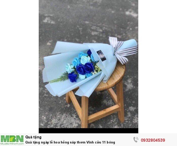 Quà tặng ngày lễ hoa hồng sáp thơm Vĩnh cửu 11 bông0