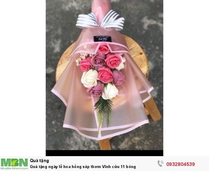 Quà tặng ngày lễ hoa hồng sáp thơm Vĩnh cửu 11 bông1