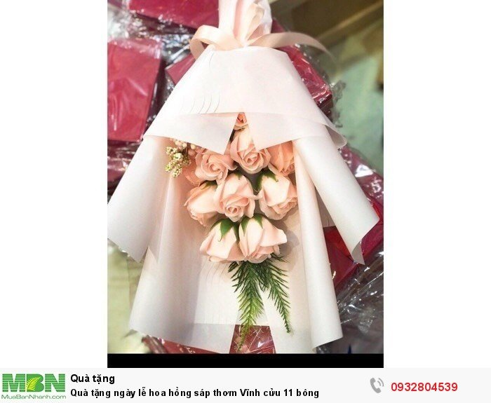 Quà tặng ngày lễ hoa hồng sáp thơm Vĩnh cửu 11 bông3