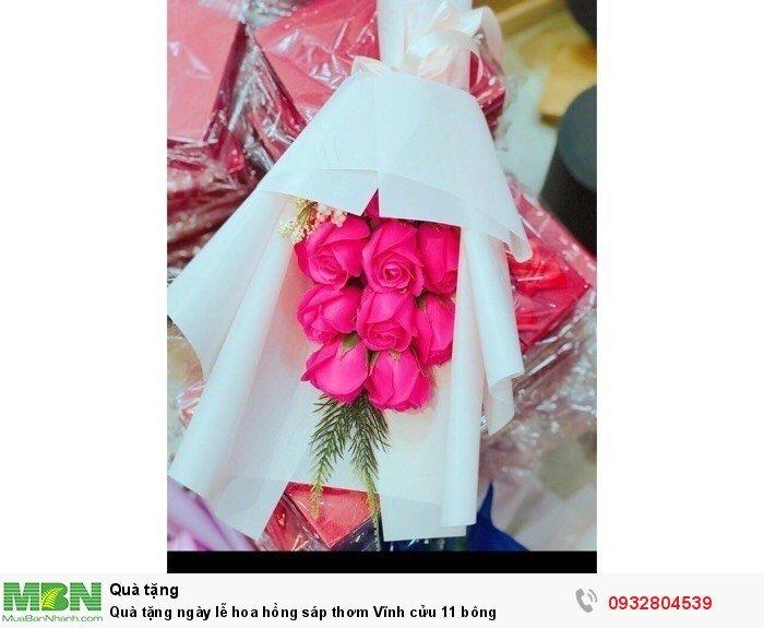 Quà tặng ngày lễ hoa hồng sáp thơm Vĩnh cửu 11 bông4
