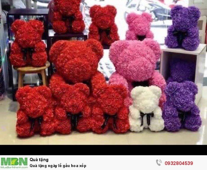 Quà tặng ngày lễ gấu hoa xốp0
