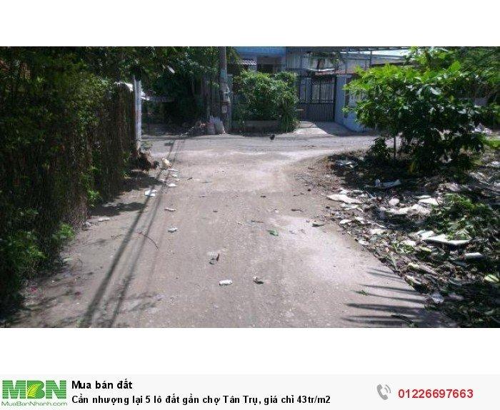 Cần nhượng lại 5 lô đất gần chợ Tân Trụ, giá chỉ 43tr/m2