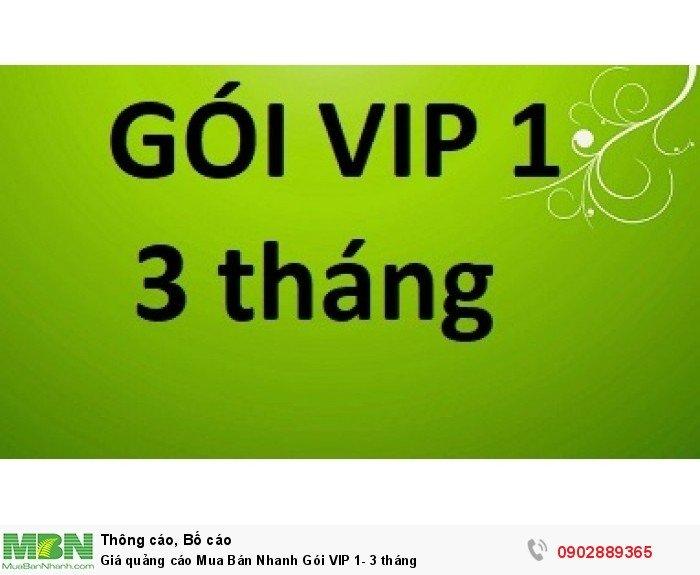 Giá quảng cáo Mua Bán Nhanh Gói VIP 1- 3 tháng