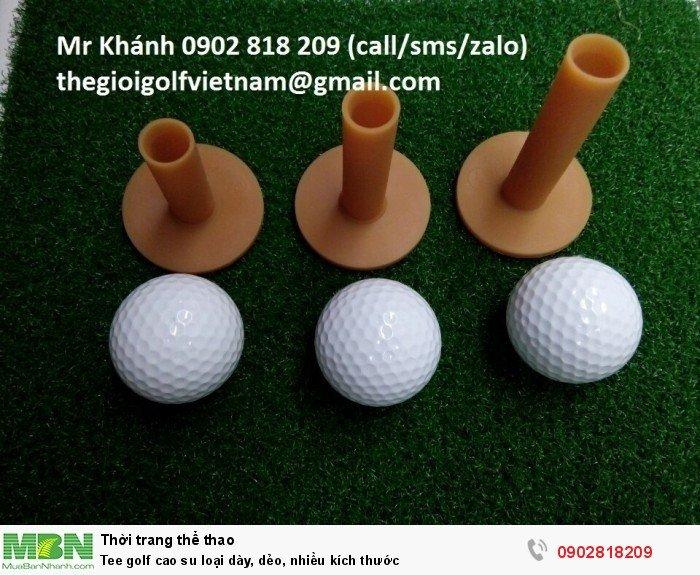 Tee golf cao su loại dày, dẻo, nhiều kích thước