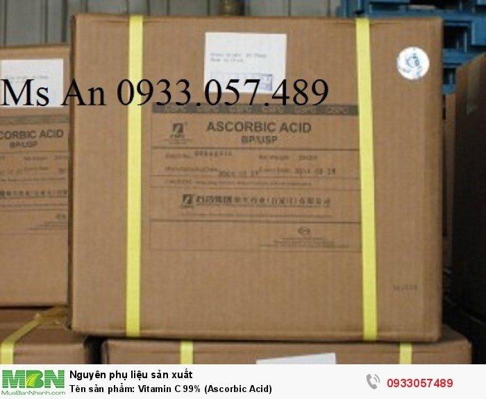 Tên sản phẩm: Vitamin C 99% (Ascorbic Acid)