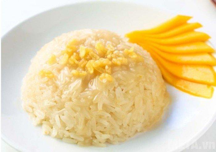 Gạo nếp thái rất dẻo, dính có thể chế biến được nhiều món0