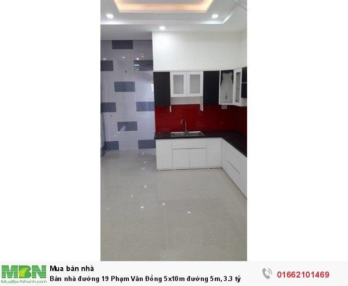 Bán nhà đường 19 Phạm Văn Đồng 5x10m đường 5m, 3.3 tỷ