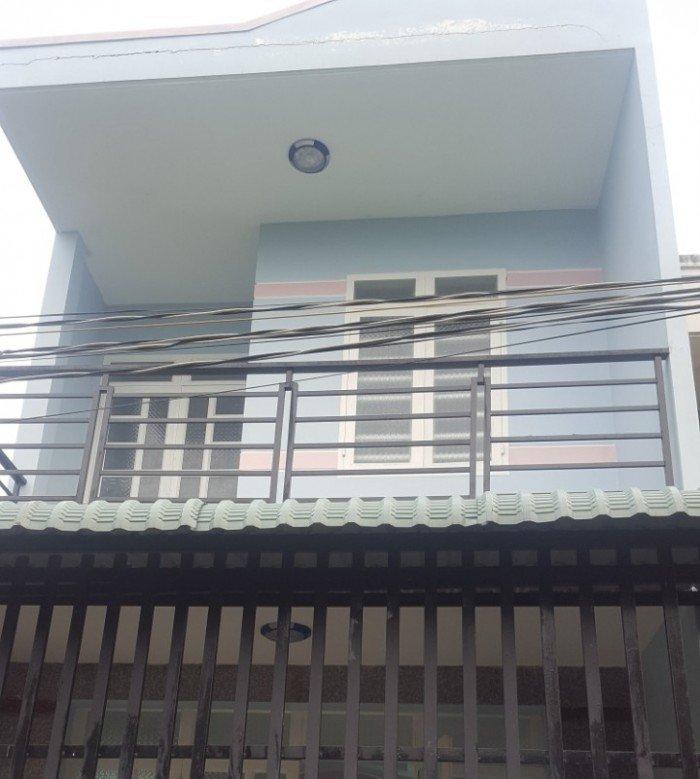 Nhà mới xây 1 trệt 1 lầu 4x12m 2 phòng ngủ 2wc