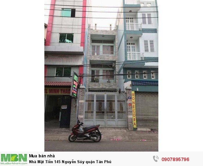 Nhà Mặt Tiền 145 Nguyễn Súy quận Tân Phú
