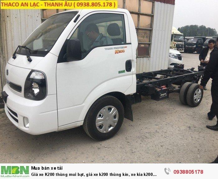 Giá xe K200 thùng mui bạt, giá xe k200 thùng kín, xe kia k200 Trường Hải 3