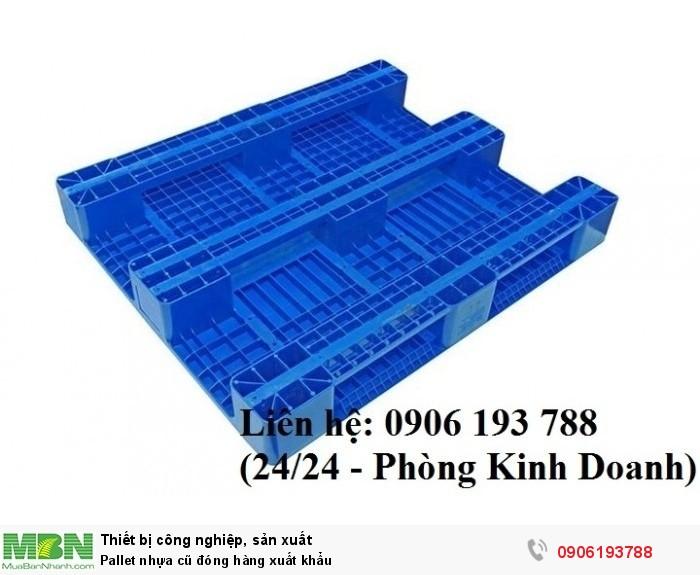 Pallet nhựa cũ đóng hàng xuất khẩu - Liên hệ: 0906193788 (Nguyễn Hòa 24/24)