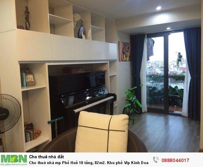 Cho thuê nhà mp Phố Huế 10 tầng, 82m2. Khu phố Vip Kinh Doanh.