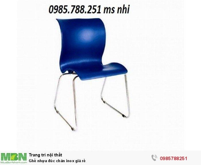 Ghế nhựa đúc chân inox giá rẻ0
