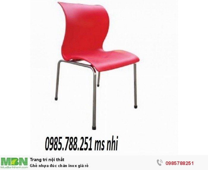 Ghế nhựa đúc chân inox giá rẻ1