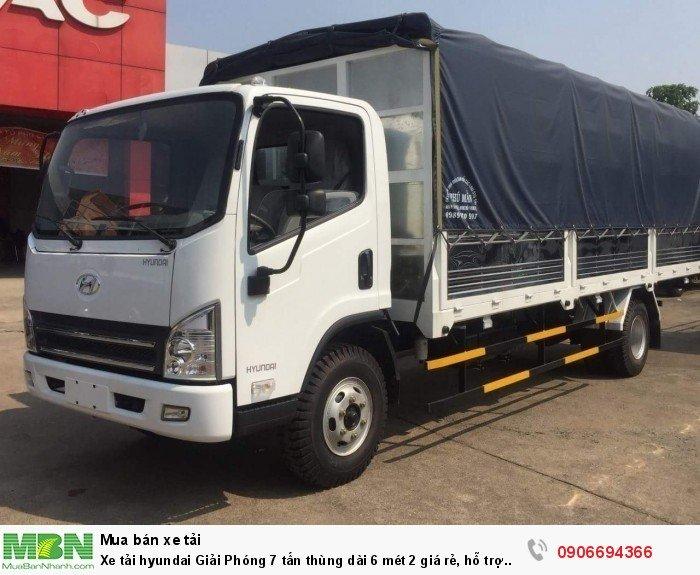 Xe tải hyundai Giải Phóng 7 tấn thùng dài 6 mét 2 giá rẻ, hỗ trợ vay cao 0