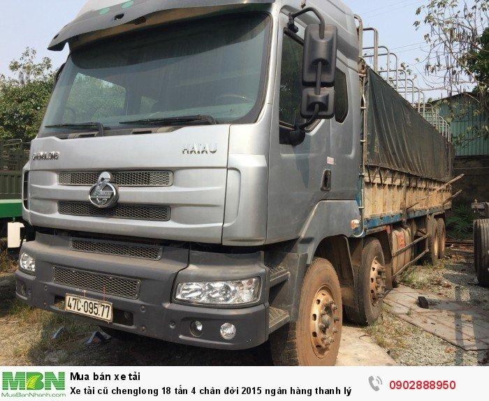 Xe tải cũ chenglong 18 tấn 4 chân đời 2015 ngân hàng thanh lý 0
