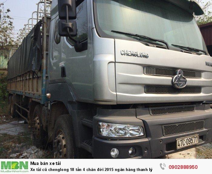 Xe tải cũ chenglong 18 tấn 4 chân đời 2015 ngân hàng thanh lý 1