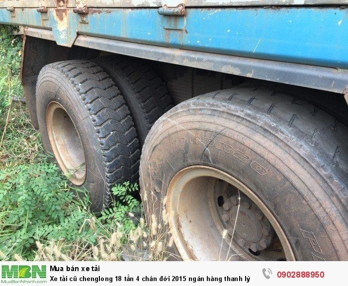 Xe tải cũ chenglong 18 tấn 4 chân đời 2015 ngân hàng thanh lý 2