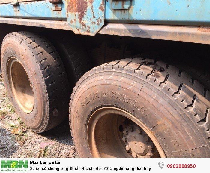 Xe tải cũ chenglong 18 tấn 4 chân đời 2015 ngân hàng thanh lý 3