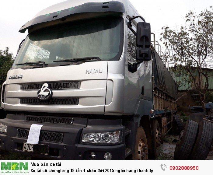 Xe tải cũ chenglong 18 tấn 4 chân đời 2015 ngân hàng thanh lý 4