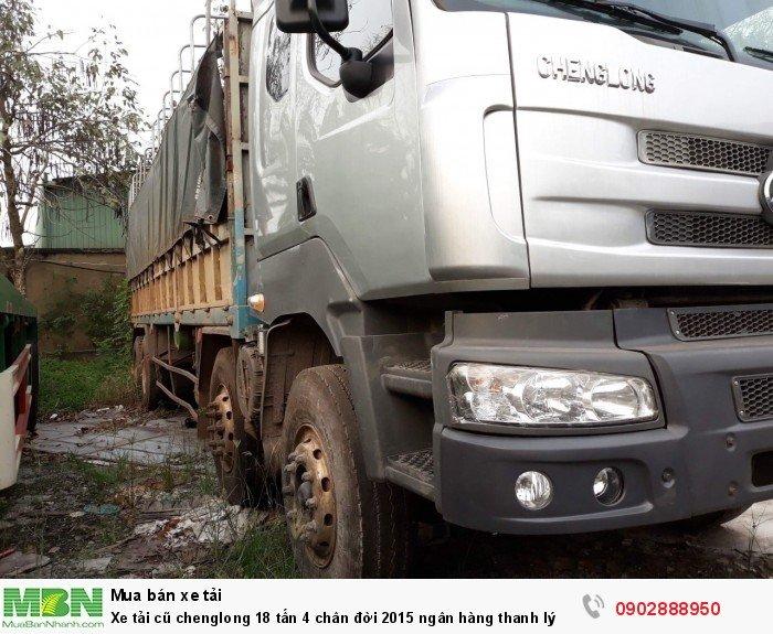 Xe tải cũ chenglong 18 tấn 4 chân đời 2015 ngân hàng thanh lý 5